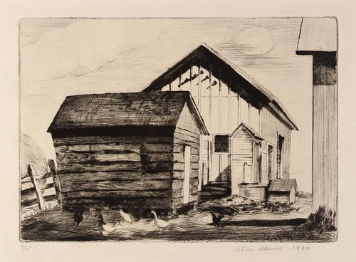 Alice Heun: The Corn Crib, 1934