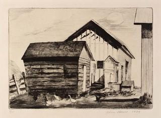 Alice Heun: The Corn Crib, 1934