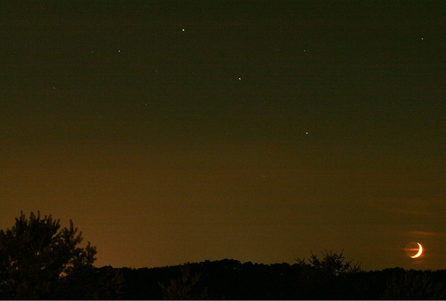 Moon, Saturn & Mars alingnment