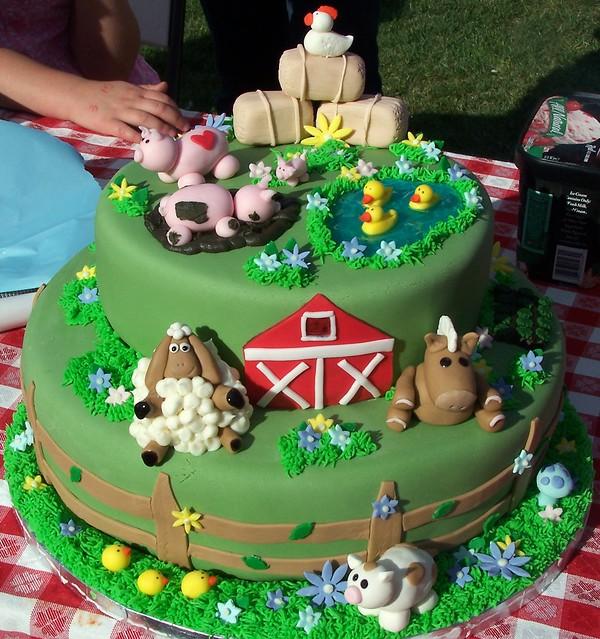 Farm animal birthday cake  Flickr - Photo Sharing!