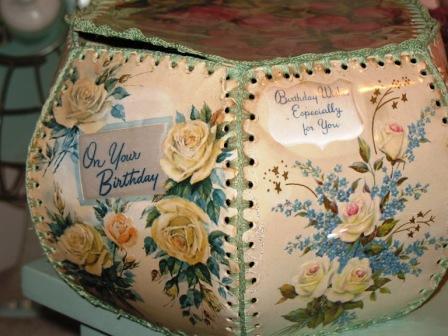 Vintage crochet card box