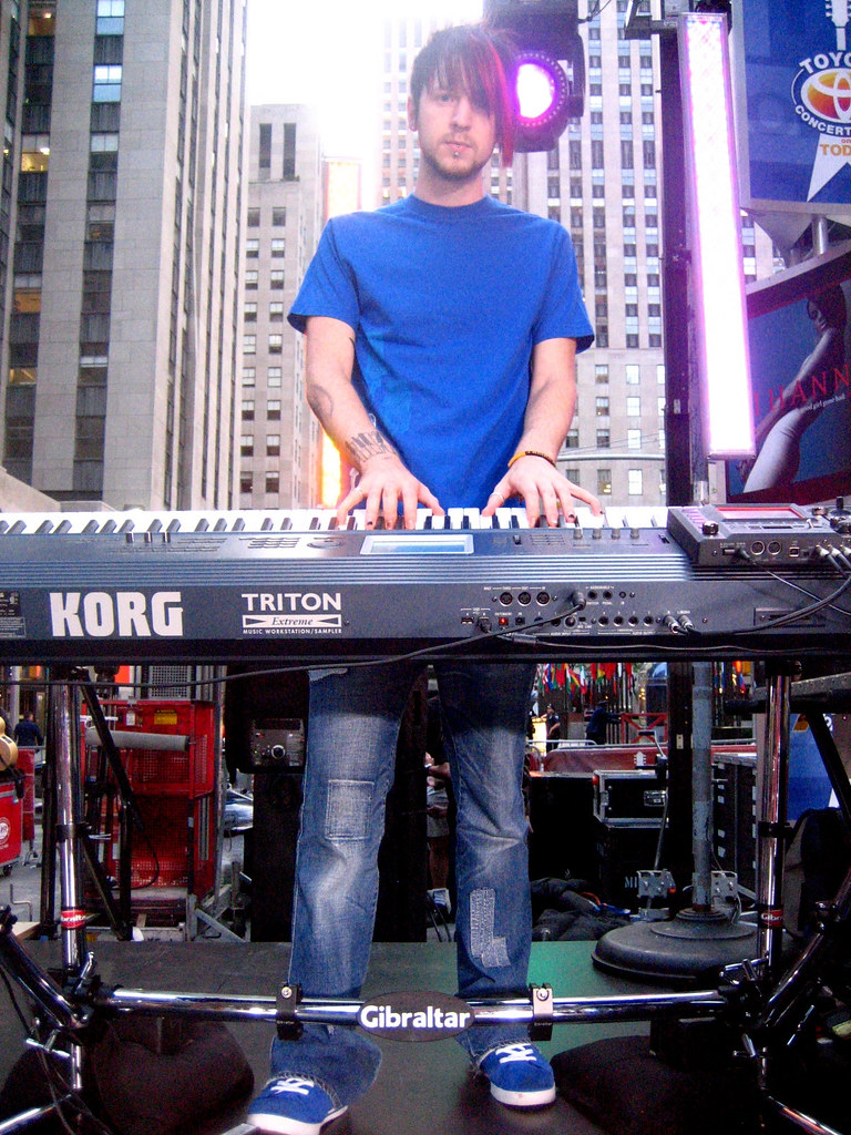 Kevin Hastings With His Tilted Gibraltar Keyboard Stand