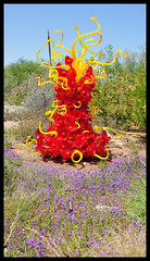 Dale Chihuly's  Mexican Hat And Horn Tower