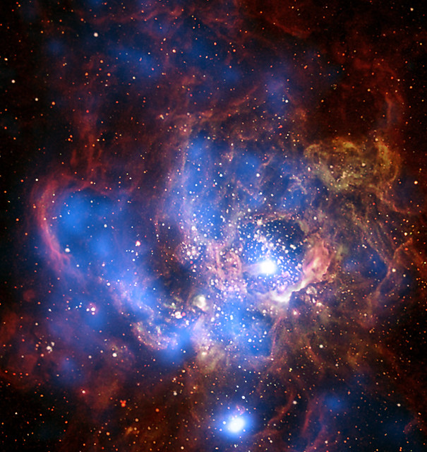 Wall Divides East and West Sides of Cosmic Metropolis: The largest region of star formation in the nearby galaxy M33.
