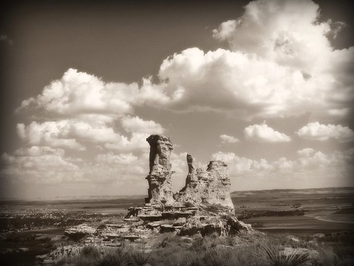 Saddle Rock In Sepia
