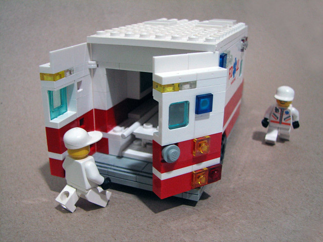 Lego ambulance truck a photo on flickriver - Lego ambulance ...