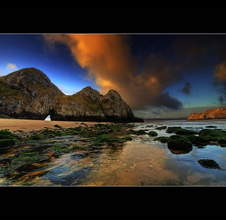 """ THREE CLIFFS BAY """