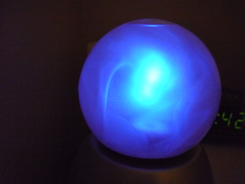 Glowing crystal ball light