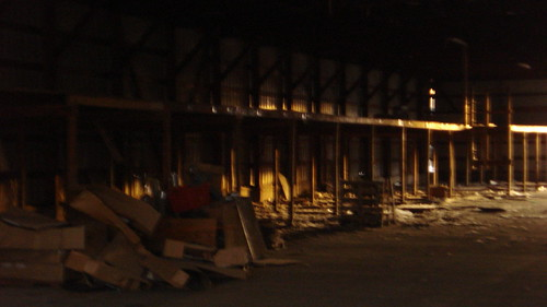 Chaska Building Center - Inside view of an outbuilding formerly used for lumber storage