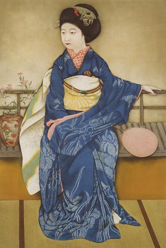 速水御舟「京の舞妓」(1920)