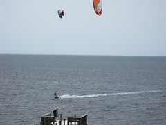 Emme Porter kite surfing in Cape Hatteras NC