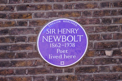 Photo of Henry Newbolt blue plaque