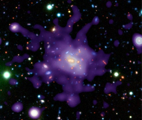 Portrait of an 8-Billion-Year-Old Galaxy (NASA, Chandra, 1/2/04)