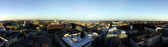 Panorama from the rooftop of the Torni Hotel