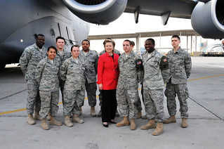 Secretary Clinton With Members of the Office of Military Cooperation - Kuwait