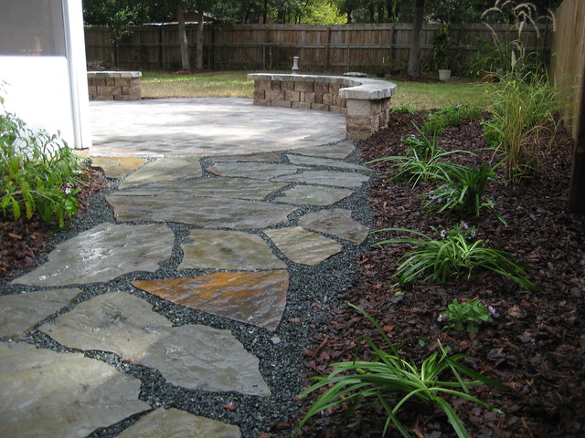 Flagstone Patio Pavers : Gravel patio backyard ideas and large pavers on pinterest
