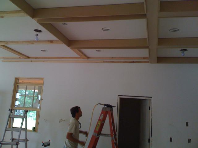 Framing box beam ceiling flickr photo sharing for Box beam ceiling