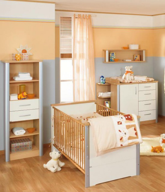 White And Wood Baby Nursery Furniture Sets By Paidi 31