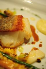 Oven-roasted Blue-eye cod with seasonal vegetables…