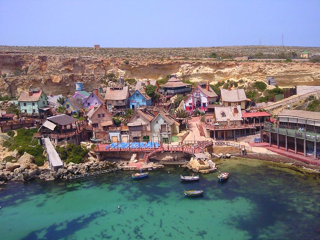 Popeye Village, film set for 1980s musical, in Malta