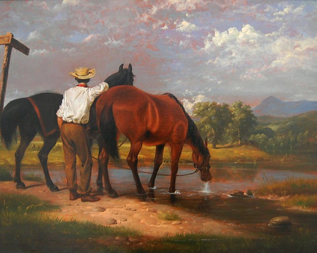 Watering the Horses (1852) - Junius Brutus Stearns (1810-1885)