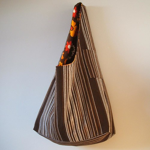 orange zest and chocolate brown Dilly tote