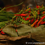 Chili Peppers at Kalaw Market - Burma