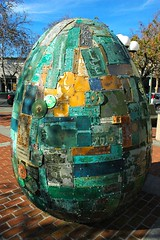 Egg, Digital DNA, City of Palo Alto, Art in Public Places, 9.01.05, California, USA