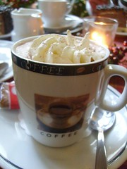 breakfast(0.0), caf㩠au lait(0.0), caff㨠macchiato(0.0), meal(1.0), cappuccino(1.0), mocaccino(1.0), food(1.0), coffee(1.0), dish(1.0), affogato(1.0), drink(1.0), dessert(1.0), cuisine(1.0),