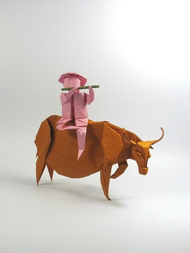boy-on-water-buffalo-origami