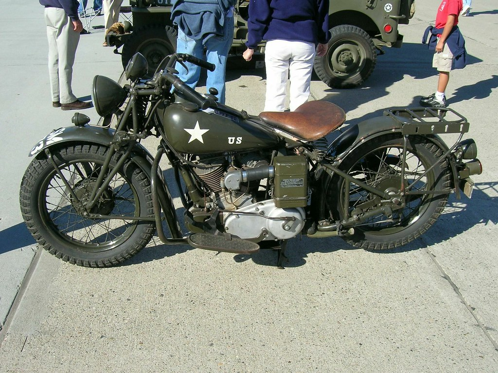 1942 Indian 741 - 500cc V-twin Military Motorcycle 1 - a photo on ...