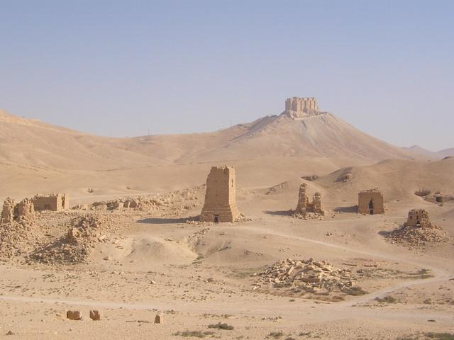 Palmira, valle de las tumbas