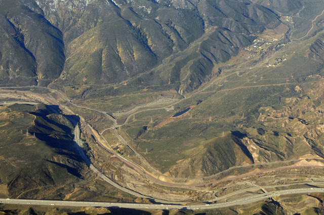 Angle Finder App >> Above Lost Lake and the San Andreas fault in Cajon Pass, San Bernardino County, California ...