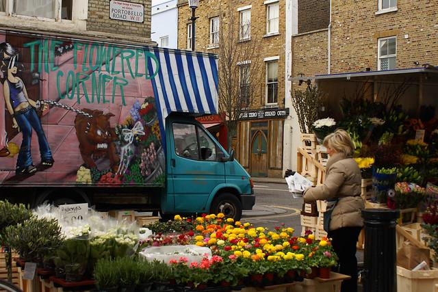 Portobello Road Market, London - Image by Flickr user osmotic_agent