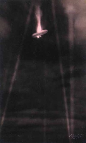 [3rd image, the German airship SL-11 exploding.]