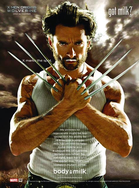 X-Men Origins Wolverine Milk Mustache Ad