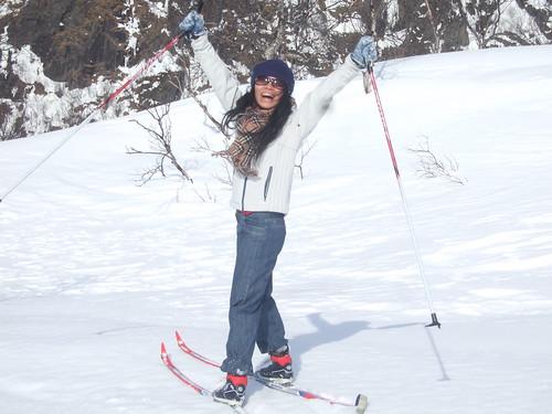 Hui skiing