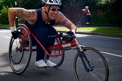 endurance sports(0.0), bicycle racing(0.0), road bicycle(0.0), road bicycle racing(0.0), road cycling(0.0), duathlon(0.0), bicycle(0.0), vehicle(1.0), sports(1.0), race(1.0), sports equipment(1.0), wheelchair racing(1.0), cycling(1.0),