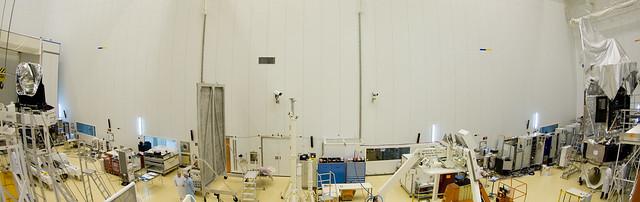 Herschel and Planck in clean room