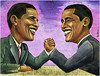 Obama's Toughest Opponent: Himself! by Ben Heine