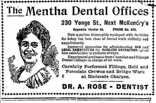 Vintage Ad #814: The Mentha Dental Lady Still Smiles