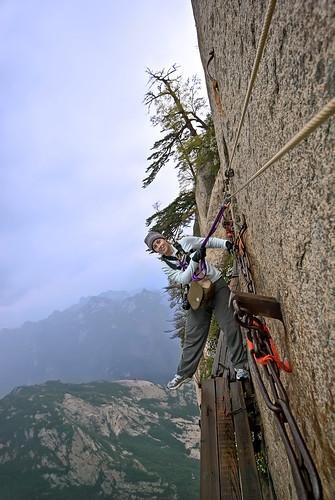 china cliff mountain nikon asia xian shaanxi 華山 huashan d80 plankwalk nikond80 mounthua mounthuashan qinlingmountainrange