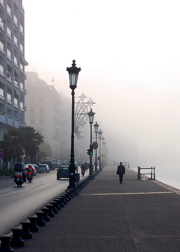 thessaloniki saloniki greece greek springtime d50 port odosnikis portofthessaloniki aegean seawall coast coastal seaside urban streetscape mist misty morning dawn sunrise 5photosaday geo:lat=40632584 geo:lon=22938938 geotagged foggy fog stolenmoment candid getty gettyimages views1250 fv30