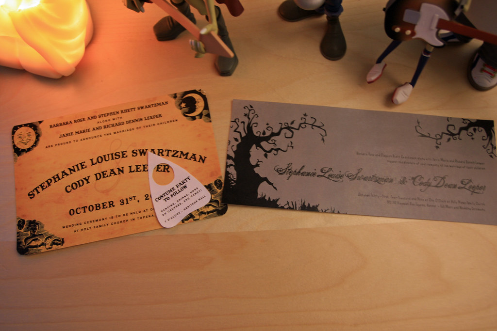 Check out the cool wedding invitation my friend Amanda made!