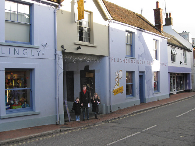 Outside the Roahl Dahl Museum