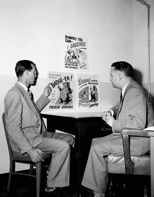 1951 Haynes and Shuman with Security Posters