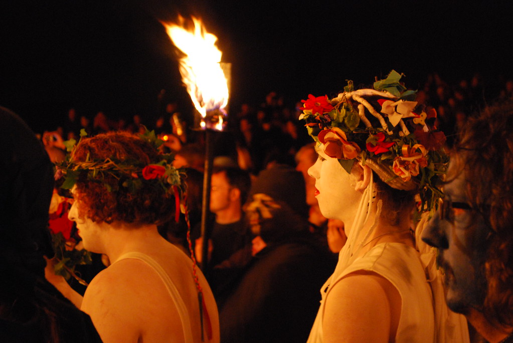 DSC_0367 Beltane Fire Festival 2009 - Calton Hill, Edinburgh - White Women