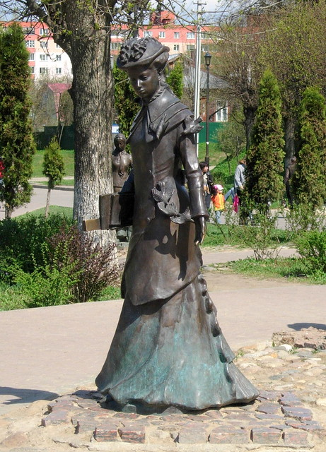 Sculpture on the street of Dmitrov