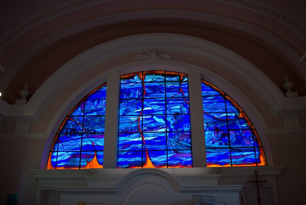 Stained Glass Window, Chapel, Grand-Pré, Nova Scotia