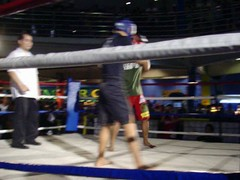 muay thai(0.0), martial arts(0.0), punch(0.0), striking combat sports(1.0), boxing ring(1.0), sport venue(1.0), individual sports(1.0), contact sport(1.0), sports(1.0), shoot boxing(1.0), kickboxing(1.0), sanshou(1.0), strike(1.0), amateur boxing(1.0), boxing(1.0),